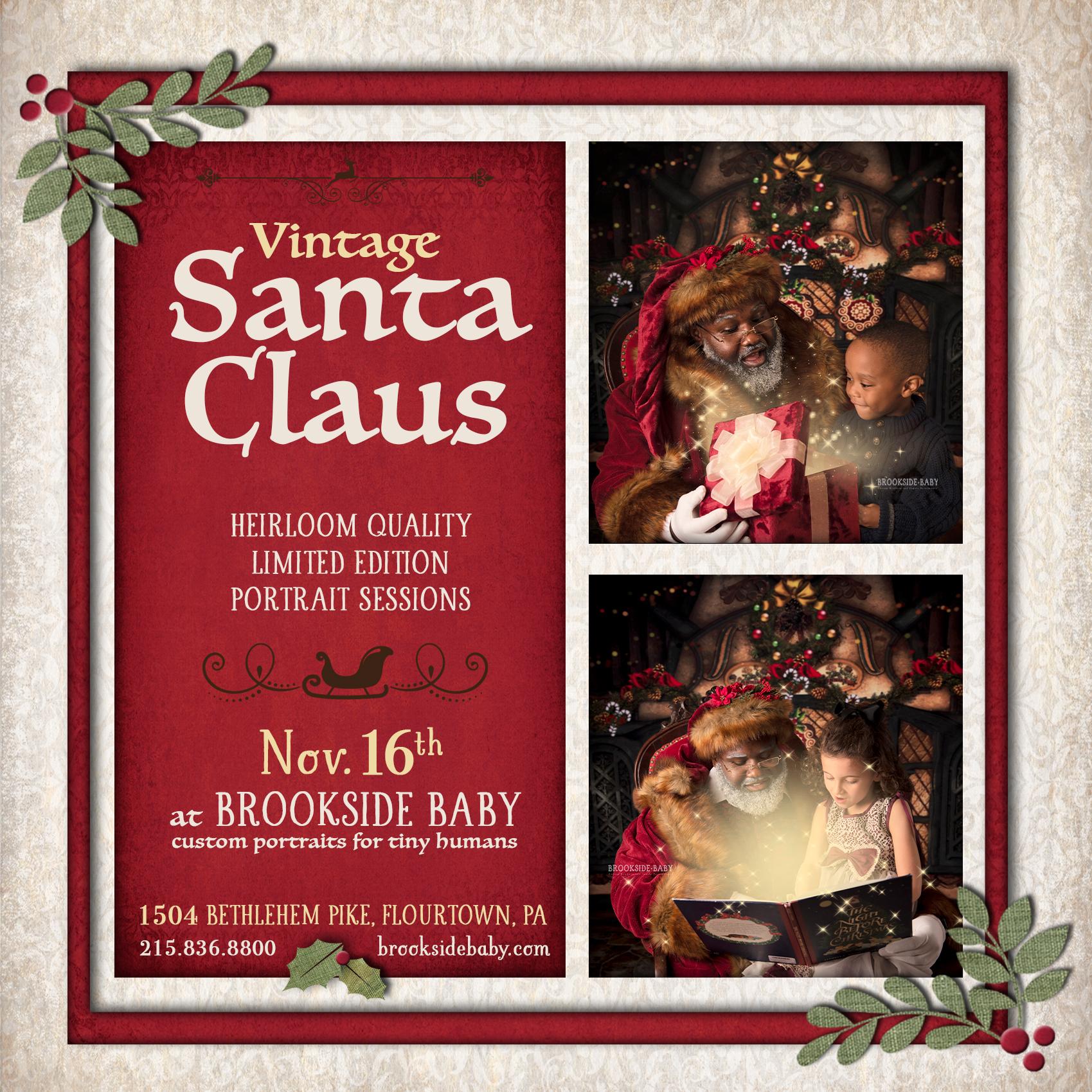 Vintage Santa Claus Portraits - Nov. 16th - Brookside Baby