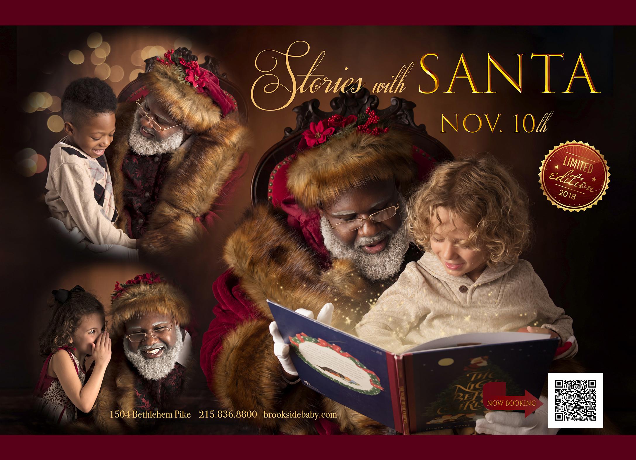 Santa Promo 5x7 Front Qr Code